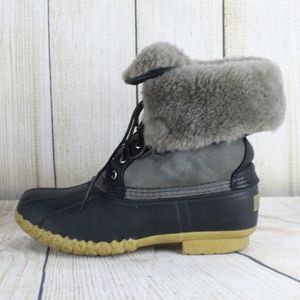 LL Bean Wicked Good Shearling Lined Duck Boots 8 M